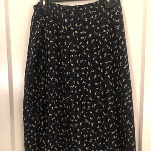 Alfred Dunner Pleated Midi Skirt with Flowers